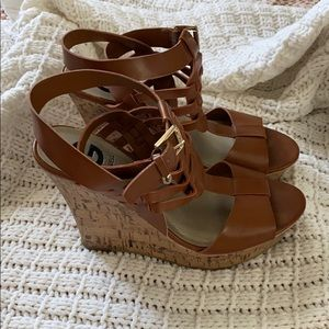 Guess by Guess Brown shoes Size 7 Wedges Women's